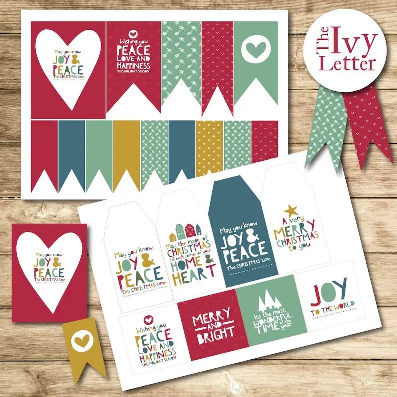 50 christmas printable tags