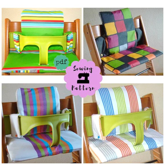 sewing patterns for chair cushions ikea high review stokke tripp trapp cushion set pdf pattern with video etsy image 0