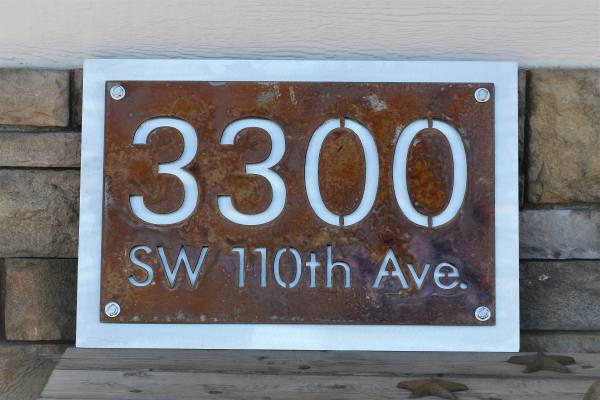 Personalized Address Number Street Sign House And
