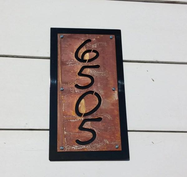 Black Rustic Metal Address Number Plaque House