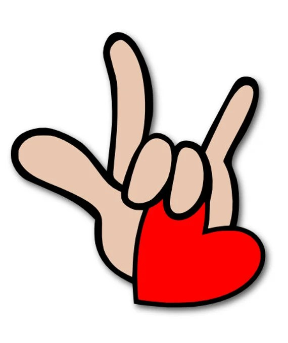Download I Love You in ASL Sign Language SVG Digital File   Etsy