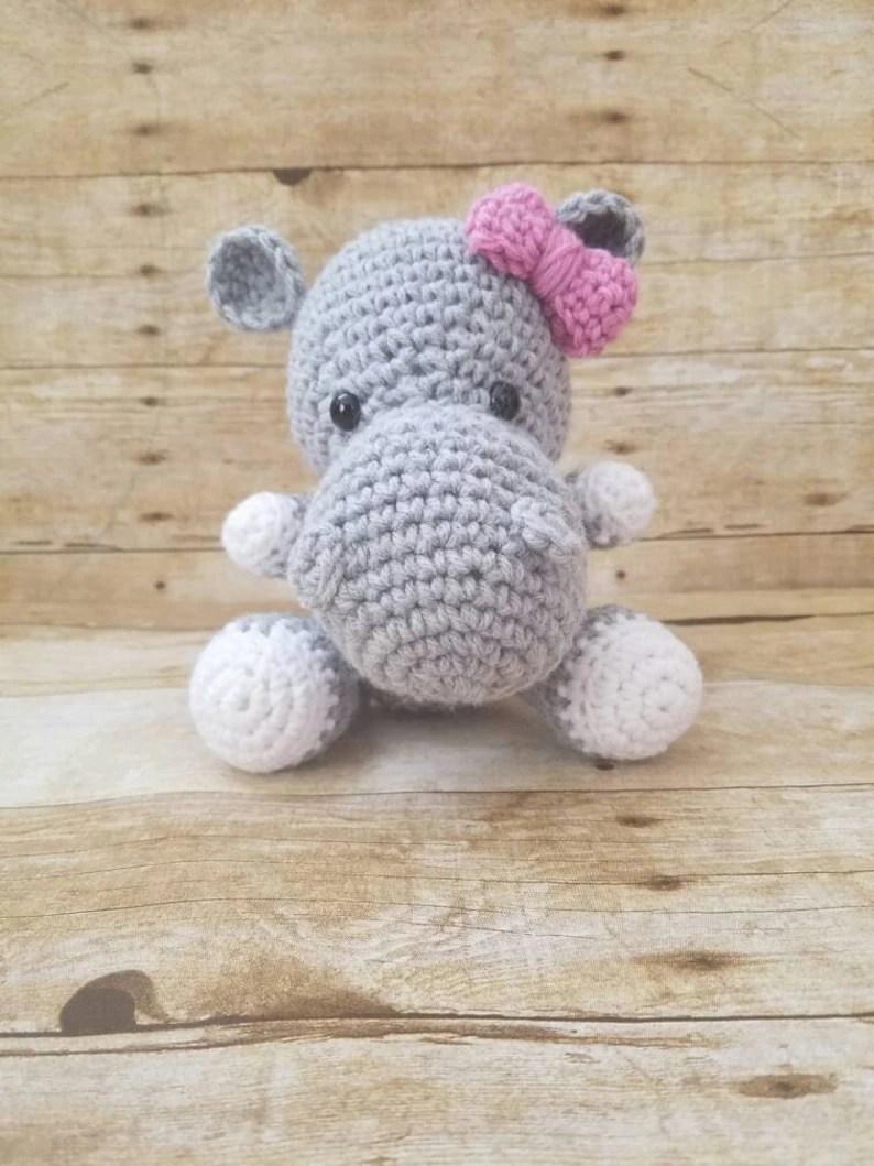 stuffed hippo crochet hippo