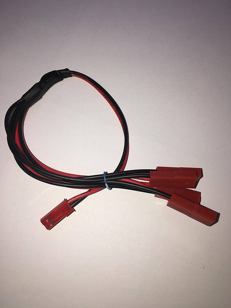 medium resolution of traxxas vxl dual fan wiring harness jst plug splitter 1m4f etsyesc wiring harness 10