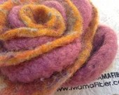 Woollen Felted Rose Brooc...