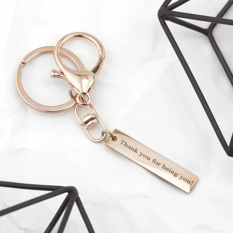Engraved Keychain for Women Custom Keychain Mens Gifts image 4