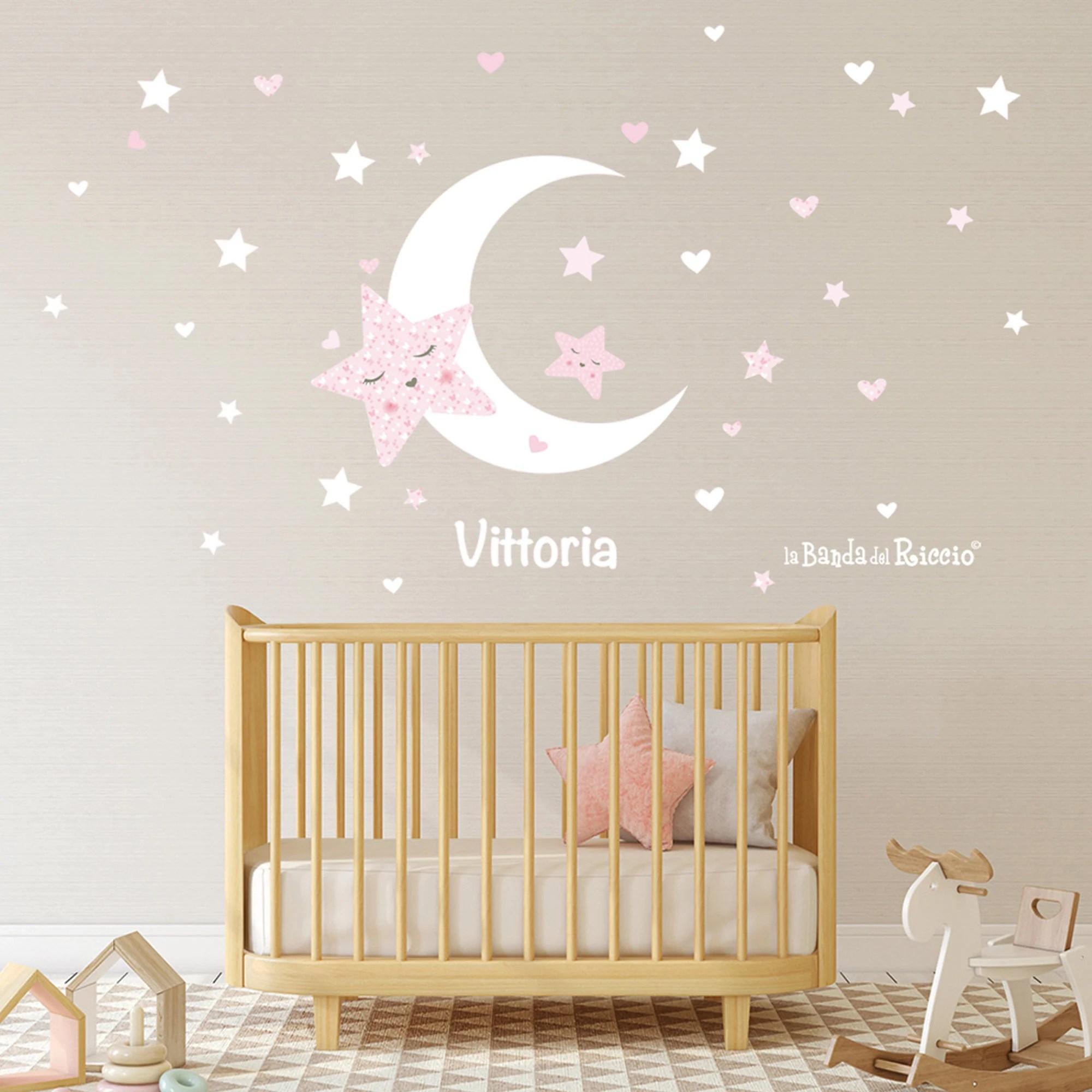 Sii il primo a recensire questo prodotto. Adesivi Murali Camerette Stickers Murali Stelle E Luna Etsy