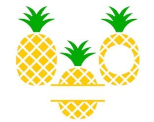 Pineapple monogram svg Etsy