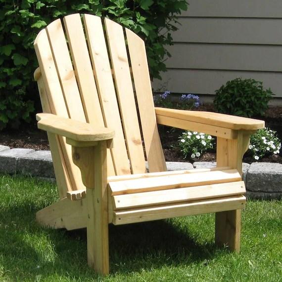 adirondack chair kit big and tall desk staples premium knotty cedar etsy image 0