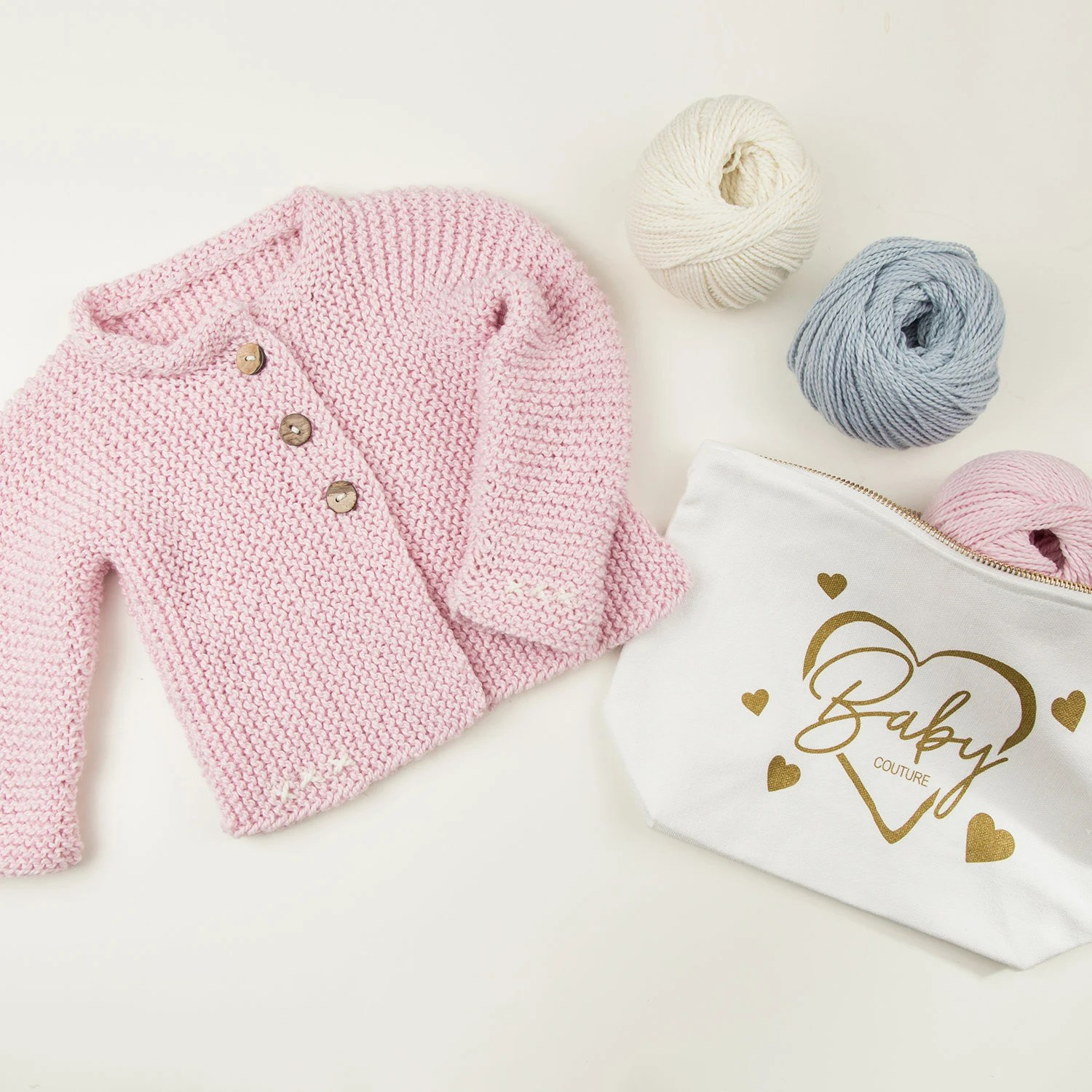 8adab7792 Lilly Cardigan Baby Knitting Kit Toddler Hand Knit Cardi Pattern For Babies  And Toddler 24months Easy Knit Kit 5 Sizes On One Pattern