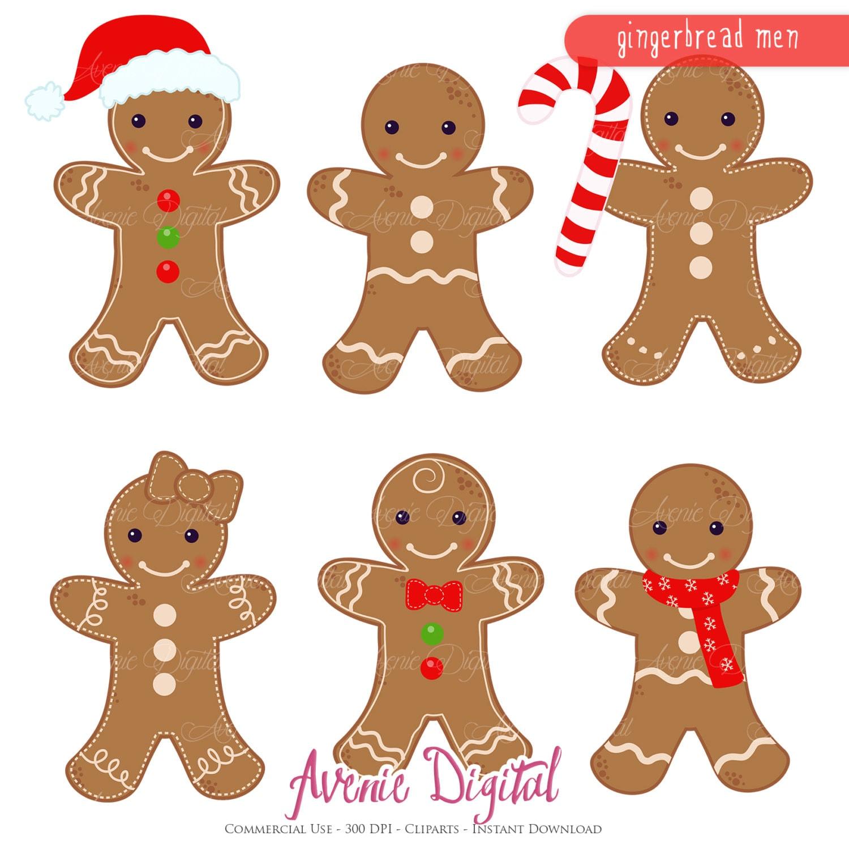 Gingerbread Man Clipart Scrapbook Printables Holiday Clip