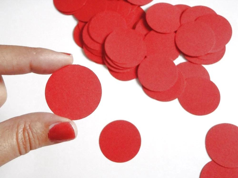 68 cerchi rossi coriandoli rotondi laurea nozze matrimonio