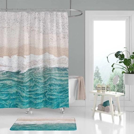 beach shower curtain cheaper than