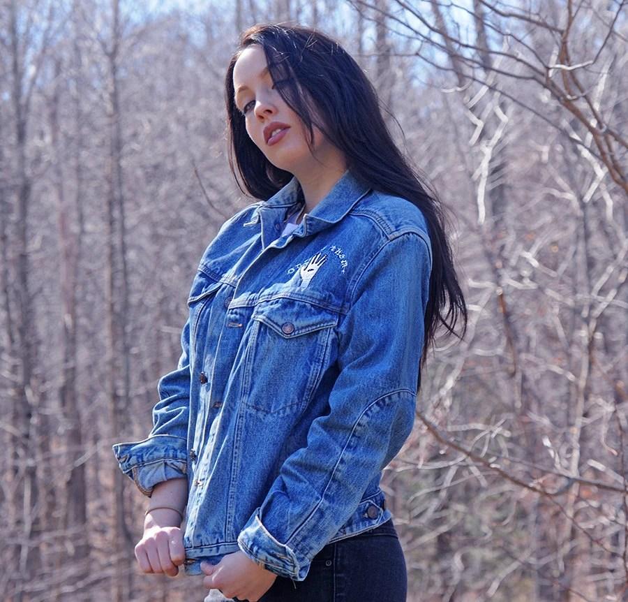 alien embroidered jean jacket