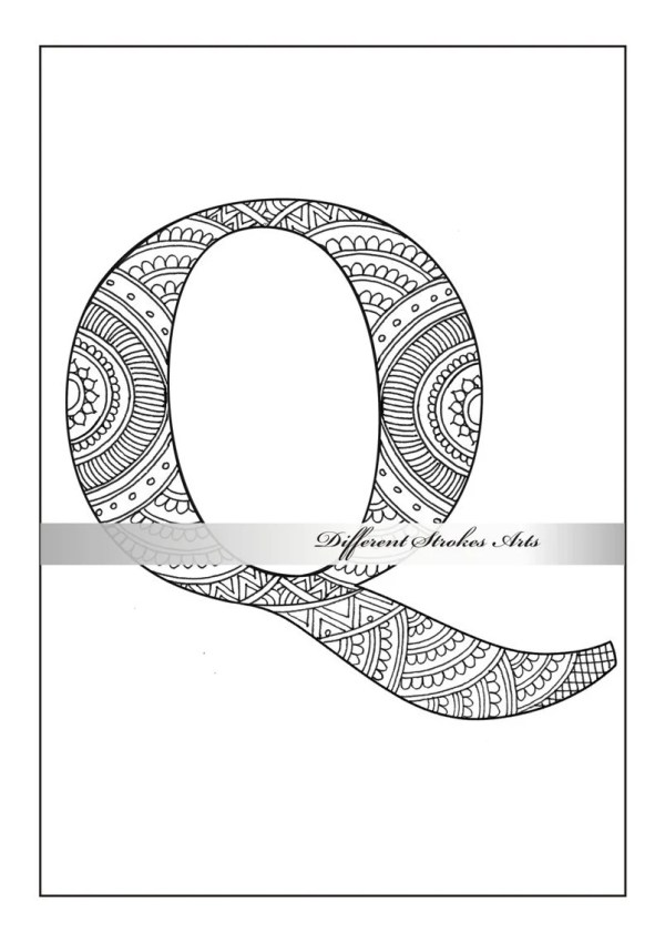 letter q coloring page # 56