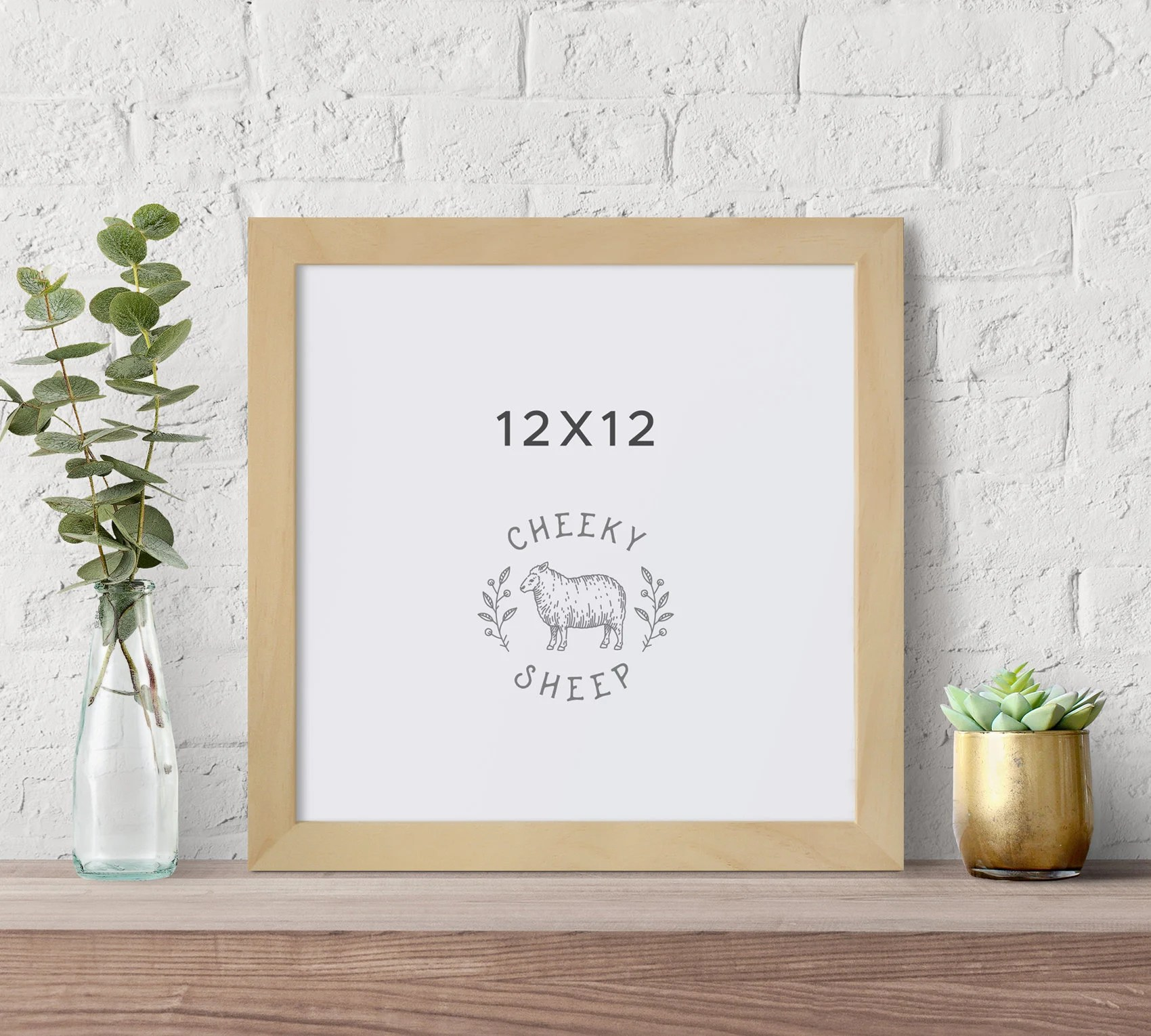 12x12 picture frame natural