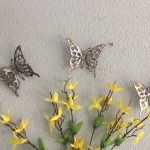3 Butterflies Free Shipping Metal Wall Art Metal