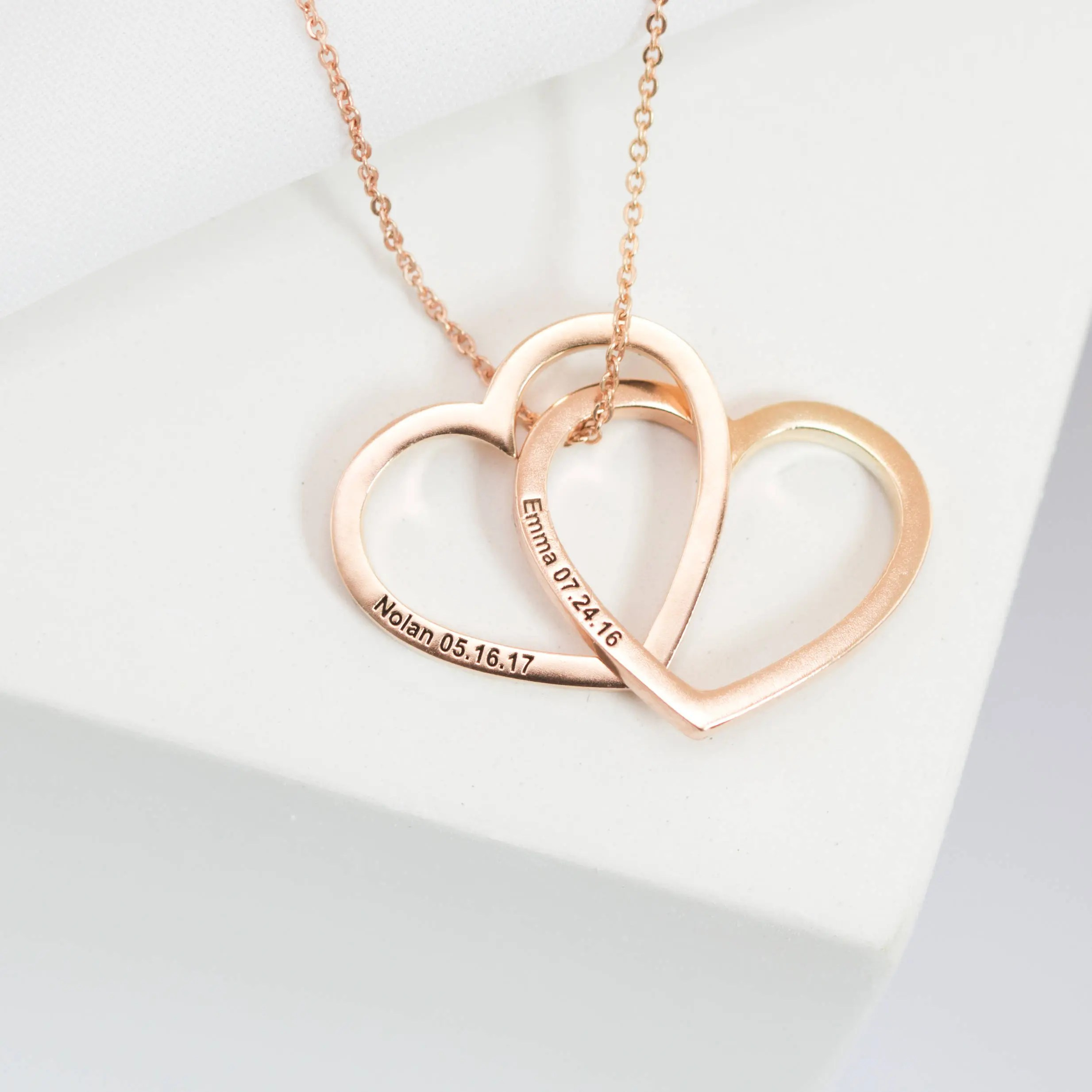 Custom Heart Necklace  Engrave Heart Pendant  Personalized image 1