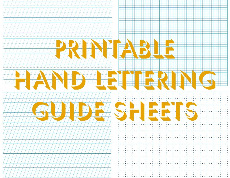 Hand Lettering Practice Sheets Worksheets Custom