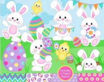 Bunny Clipart Etsy