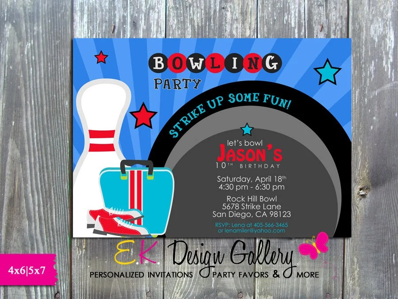 bowling game night birthday