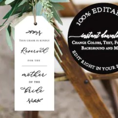 Reserved Signs For Chairs Template Baker Palladian Dining Chair Etsy Wedding Ceremony Seating Tag Seat Tags Sign