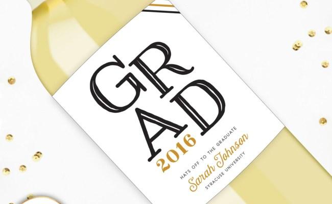 Graduation Gift Wine Label College Graduation Gift Unique