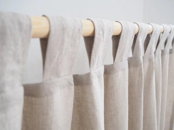 tab top linen curtain panel natural linen homey style linen drapes