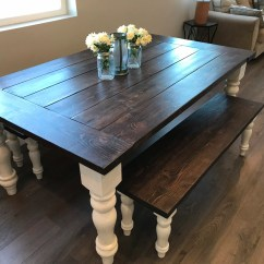 Rustic Kitchen Tables Light Table Etsy Turned Leg Farmhouse Beard Board Dining