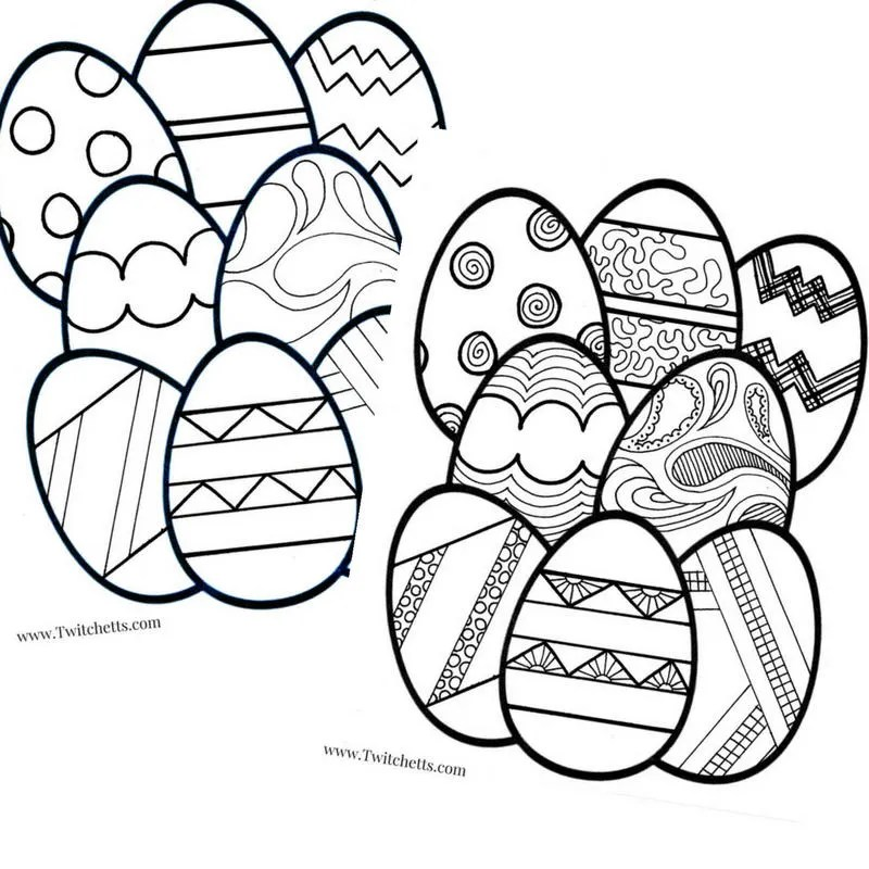 Printable Easter Egg Coloring Pages For Kids Printable