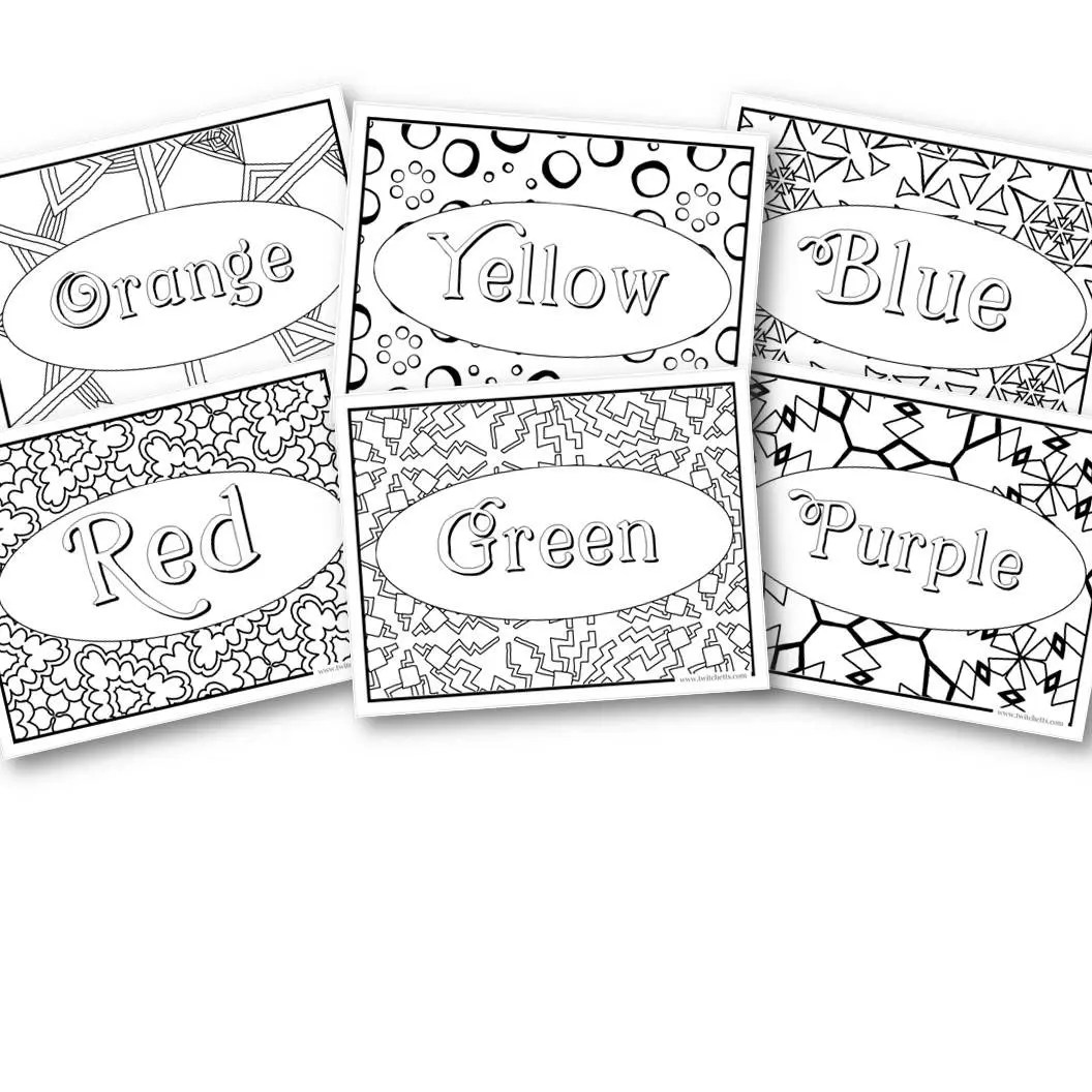 Rainbow Coloring Pages Screen Free Activities Preschool