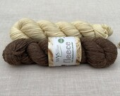 Bluefaced Leicester - British Wool - West Yorkshire Spinners - undyed yarn - Colour: Brown #003 - 100g Aran weight