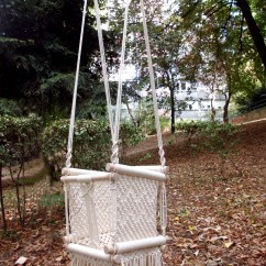 Baby Swing Chair Nz Floor Australia Macrame Etsy Hammock Made From Cotton Rope