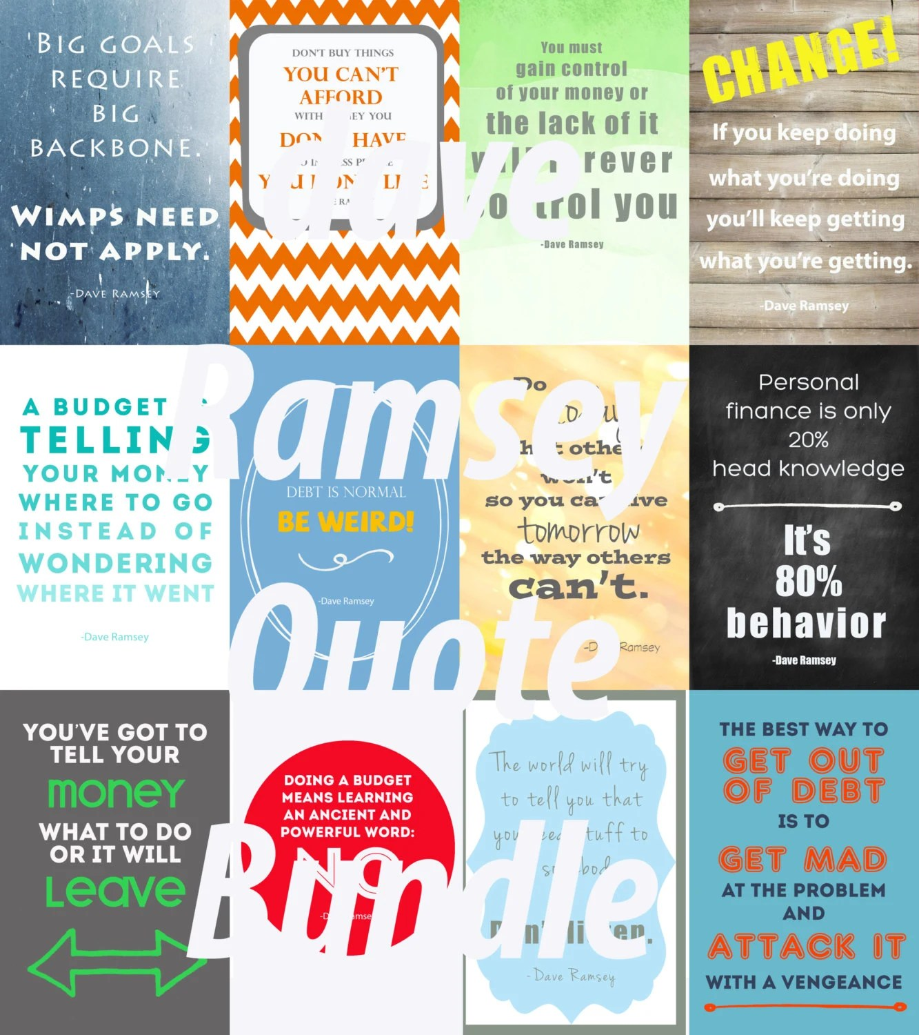 Dave Ramsey Quotebundle Twelve 4x6 Quotes