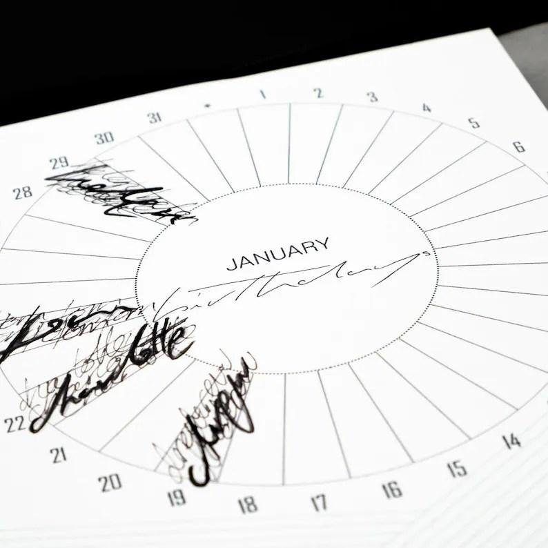 Filofax Birthdays Inserts A5 / Kikki K Large Calendar