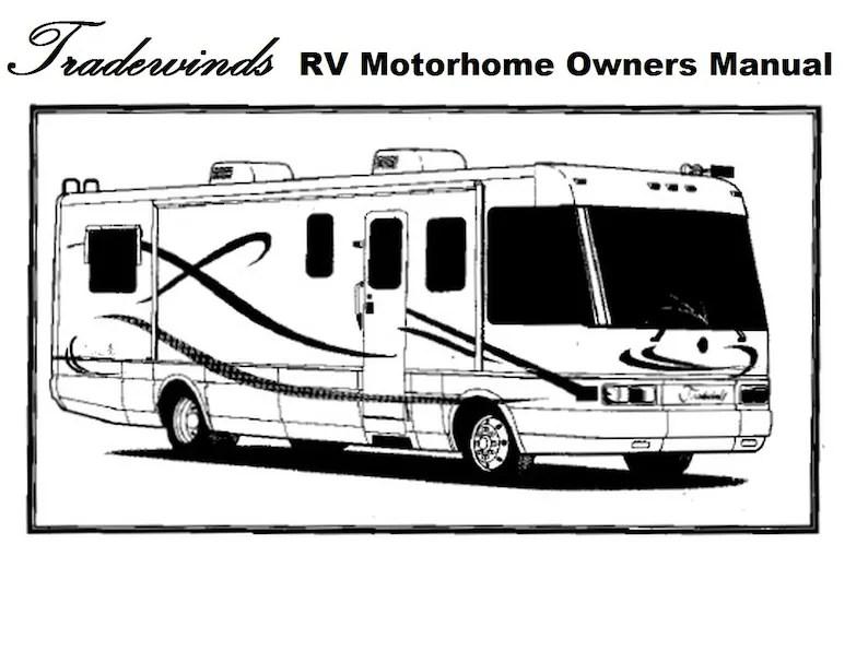TRADEWINDS MOTORHOME MANUALs 435pg 1997 1998 1999 2000