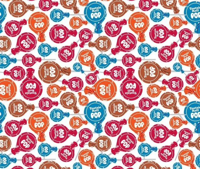 Tootsie Pops On White Cotton Fabric By The 1 2 Yard Riley Blake Fabric 100 Cotton Fabric Food Fabric Retro Fabric Vintage Fabric