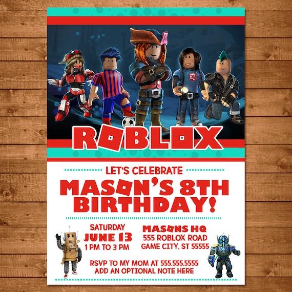 roblox birthday invitation roblox invite roblox party favors roblox printable party printables video game birthday 100700