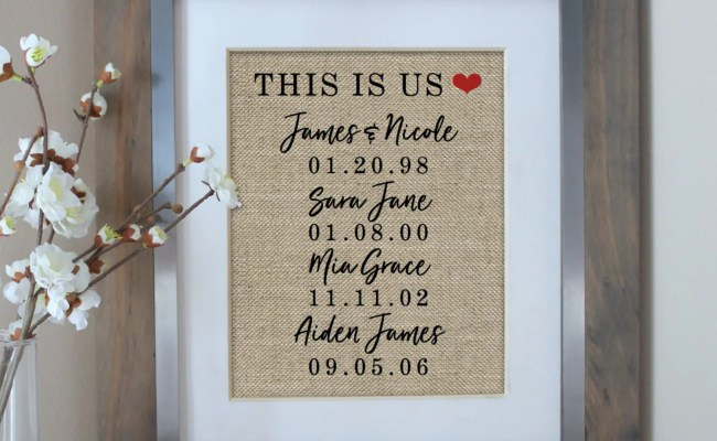 Christmas Gift Husband Gift For Wife This Is Us Sign Etsy