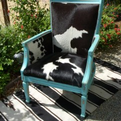 Black And White Cowhide Chair How To Make A Adirondack Cowgirl Chic Turquoise