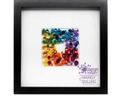 Paper Quilled Rainbow Abstract 8x8 | Ready to Ship