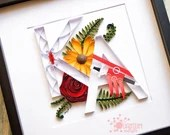 Double Monogram | Paper Quilled Letter | Initial | Made-to-Order | Customized/Personalized for Engagements, Anniversaries, & Weddings
