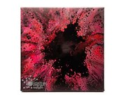 "Abstract Pink Black Gold ""Pink Hole"" Fluid Acrylic Pour Painting"