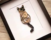 Custom Paper Quilled Scrollwork Cat | Single | Made-to-Order