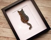 Custom Paper Quilled Striped Cat | Made-to-Order