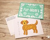 Fur-Mom or Fur-Dad Customized Card & Dog Portrait Art | Mother's Day for Dog Lovers | Dog Mom's | Fur Dad's | Father's Day