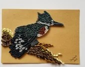 Paper Quilled Kingfisher | 5x7