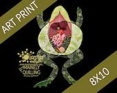 8x10 Art Print | Paper Quilled Frog Autopsy Original Artwork