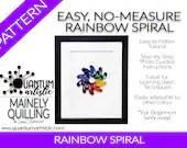 Easy No-Measure Rainbox Spiral Quilling Pattern | Digital