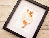 Custom Paper Quilled Scrollwork Fat Cat 5x7 | Made-to-Order