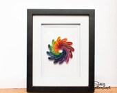 Quilled Paper Art | Mini Rainbow Spiral